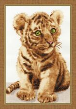 Ussuri tiger cub Cross Stitch Set Golden fleece Nl-043 (19*28,5)