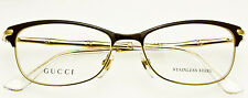 GUCCI WOMENS CATEYE EYEGLASS FRAME Brown-Gold Bamboo GG4277 LVM 53mm *AUTHENTIC*