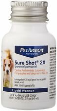 PetArmor Sure Shot 2X (pyrantel pamoate) De-wormer for Dogs,puppies, 2 oz