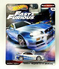 #1 Hot Wheels Fast & Furious Fast Imports Nissan Skyline GT-R (BNR34) Silver