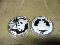 China , 2019 , 10 Yuan , 30 gramm Silber , Panda