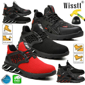 Men's Slip Resistant Steel Toe Cap Work Boots Safety Shoes Casual Blade Sneakers