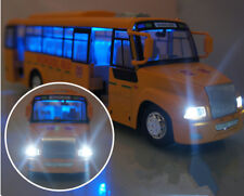 1:32 Scale School Bus Sound Music & Lighting Pull Back Action Openable Doors