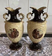 Antique Large TRENTON Vases