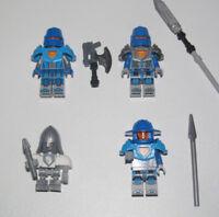 Lego ® Lot x4 Minifig Figurine Nexo Knights Chevaliers Garde Royales & Armes NEW