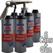 Tetrosyl Tetraschutz Shutz Body Rust Protector UNDERSEAL Spray 6 X 1ltr Gun