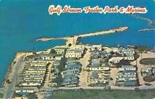 Marathon Florida Gulf Stream Trailer Park Birdseye View Vintage Postcard K87168