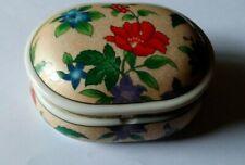 Very Pretty Floral Music Trinket Box Japan Made Heritage