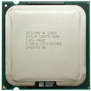Intel Core 2 Quad Q9650 SLB8W CPU Processor 1333 MHz 3 GHz LGA 775/Socket T