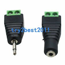1pair Adapter Converter 2.5mm Mono Female male To AV Screw Video audio Terminal