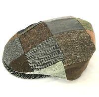 Donegal Patchwork Vintage Flat Cap Handmade in Ireland