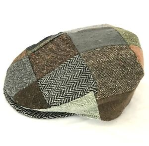 Donegal Patchwork Tweed Vintage Flat Cap Handmade in Ireland