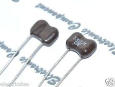2pcs - Cornell Dubilier 330P (330PF 0.33nF) 500V 2% Silvered Mica Capacitor -CDE