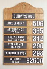 Church Register Board, Light Oak