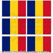 Tschad Flagge tschadischen zentralafrika Fahne Pratique Mini-aufkleber, Autocollant x6