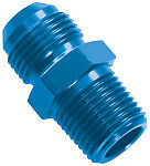 15242 Powerflow -8AN Flare to 1/4 NPT Straight Aluminum Fitting