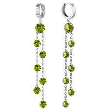 9.02 Carat 14K Solid White Gold Chandelier Earrings Peridot