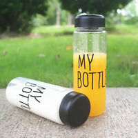 Transparent Fruit Juice Water Bottle Portable 500ML My Bottle Sport Travel Cups;