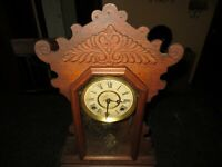 Antique (Early 19th Century) Waterbury Hand Carved Mantle Clock Repairs/Parts