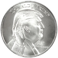1 Troy oz Trump 45th President White House .999 Fine Silver Round