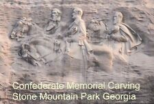 Confederate Memorial Stone Mountain Georgia Robert E. Lee Jackson etc - Postcard