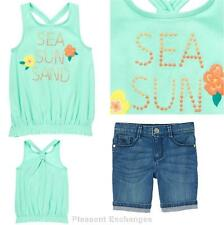 NWT Gymboree 5 SUNNY CITRUS Kid Girls 2pc Sea Sun Sand Tank Top & Bermuda Shorts