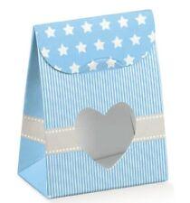 10 Sacchetti bomboniera porta confetti cuore bomboniera made in italy celeste