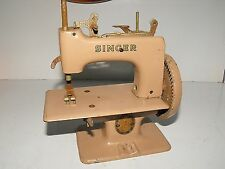 Vintage 1950s Miniature Toy Working Singer Sewing Machine As Found Condition.