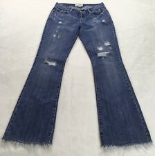Abercrombie And Fitch Size 2 Frayed Embellished Distressed Destroyed Denim Jeans