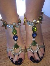 DOLCE & GABBANA Cristal Talon Haut Chaussures UK4 EU37
