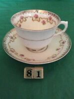 SALISBURY CROWN CHINA MADE IN ENGLAND CUP & SAUCER