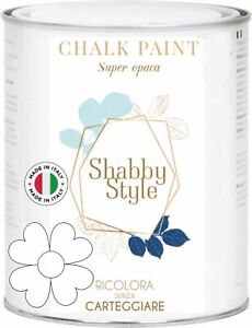 Chalk Paint Pintura Shabby Chic Vintage Muebles Paredes Otro Extra Mate Blanco