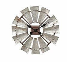 """Rustic Windmill Clock, 16"""" Tall, by Special T Imports"""