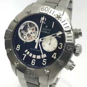 ZENITH 03.0516.4021 Open El-Primero Defy Classic Back scale Automatic Wristwatch