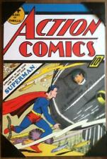 "DC Action Comics Superman Submarine every issue wooden wall art 19"" x 13"" cover"
