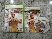 NBA 2K10 Complete CIB Microsoft Xbox 360 Tested Kobe Bryant 24 Cover HOT RARE