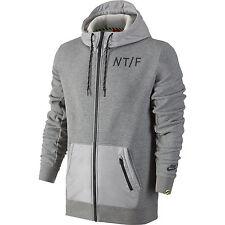 Nike Track & Field Full-Zip Running Hoodie Grey Black Size L 719570 063
