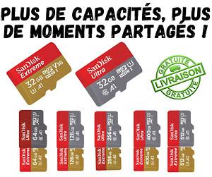 Carte Memoire Micro SD SanDisk Ultra Extreme 32GB 64GB 128GB 256GB 400GB 512GB