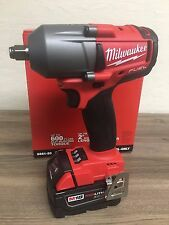 "New Milwaukee Fuel M18 2861-20 18V 1/2"" Brushless Impact Wrench + (1) 5.0AH Batt"