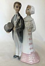"Detailed 7.5"" Formal Groom & Bride - Man & Woman Figurine - Marked Lladro"