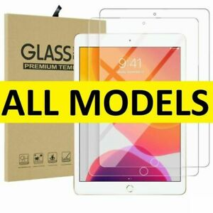 Tempered Glass Film Screen Protector For Apple iPad 1 2 3 4 Mini Air Pro 11 10.2