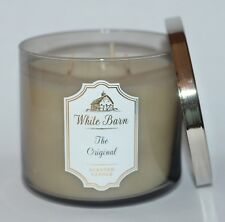 New Bath & Body Works The Original Scented Candle 3 Wick 14.5Oz Large White Barn