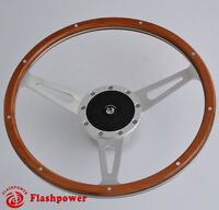 Classic Riveted wood grain steering wheel Restoration MG MGB Midget Derrington