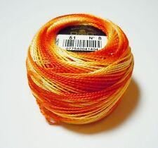 DMC Pearl Cotton Ball (10 gram) Size 8 Color #51 Variegated Burnt Orange