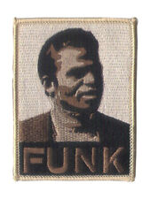 "3 3/4"" X 2 1/2"" Embroidered ""FUNK"" Patch - Wax Backing with merrowed edge - FUNK"
