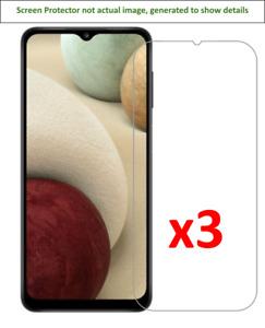 3x Samsung Galaxy A12 Screen Protector w/ cloth