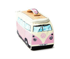 VW Volkswagen Split Screen Kombi Bus Camper Van Insulated Lunch Bag Lunchbox PNK