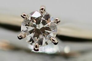 Vintage 14k white gold engagement ring with a superb .31 ct. diamond