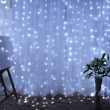 600LED Strip String Light Hanging Outdoor Garden Party Curtain Fairy Decor Lamp