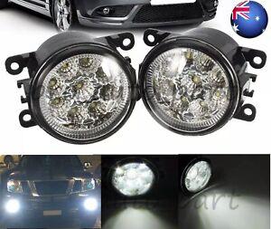 Pair L+R LED Fog Light Lamp For Mitsubishi Triton L200 Outlander Pajero Mirage